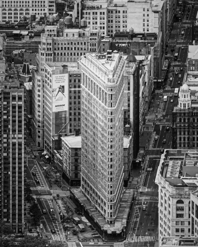 Mooiste zwart-wit foto Flatiron New York