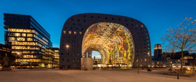 Mooiste avondfoto's Rotterdam - De Markthal