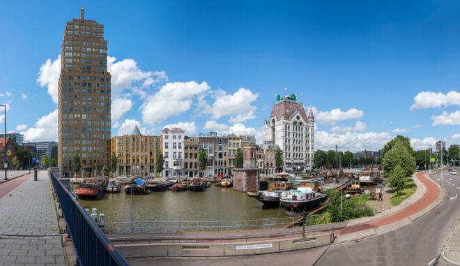 Panoramafoto Rotterdam Oude Haven