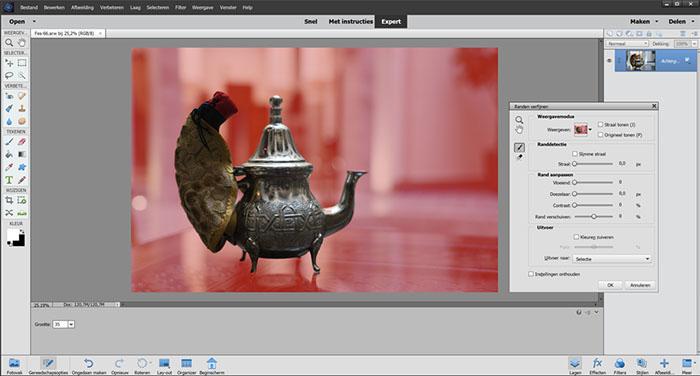 Photoshop Elements - Onderwerpen selecteren