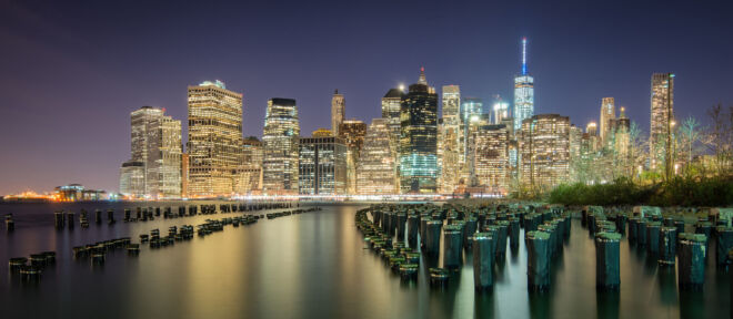 Skyline Manhattan New York by Night