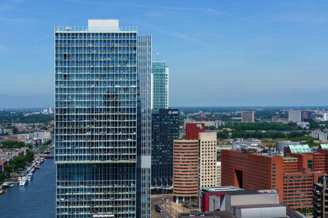 Foto van het gebouw De Rotterdam in Rotterdam