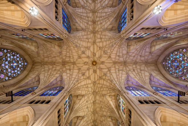 St. Patricks Cathedral roof in New York