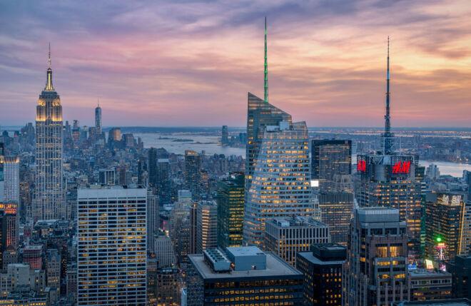 Sunset New York - View from Rockefeller Center