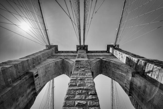 Top of Brooklyn Bridge New York