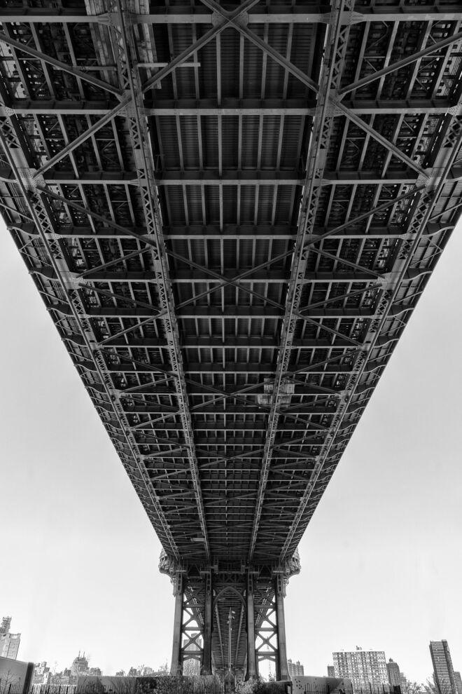 Under Manhattan Bridge New York