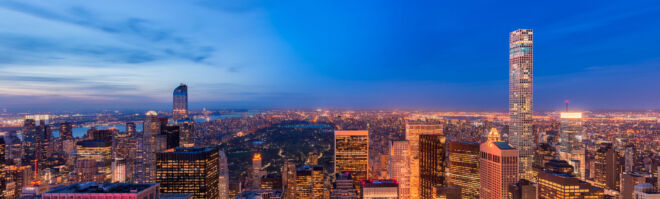 Upper Manhattan by night from Top of the Rock