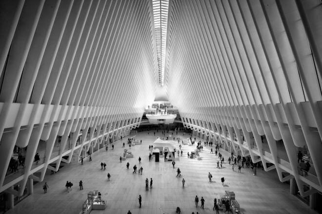 Zwart-wit foto Oculus New York