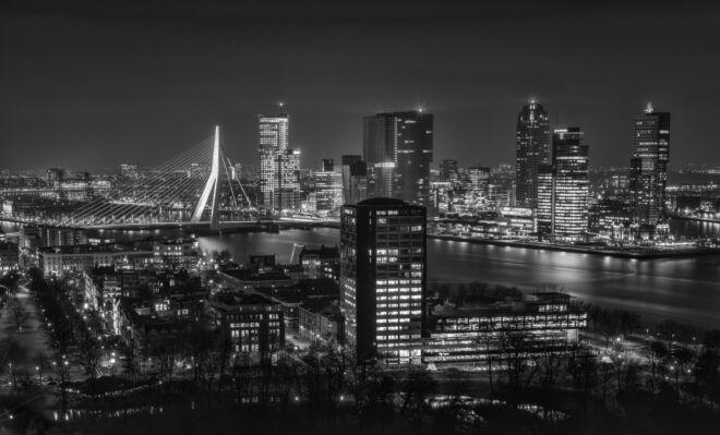 Skyline Rotterdam vanaf Euromast 2020