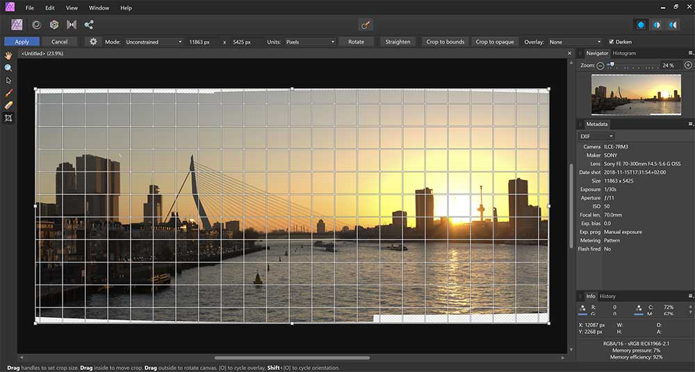Tips over panorama's maken in Affinity Photo