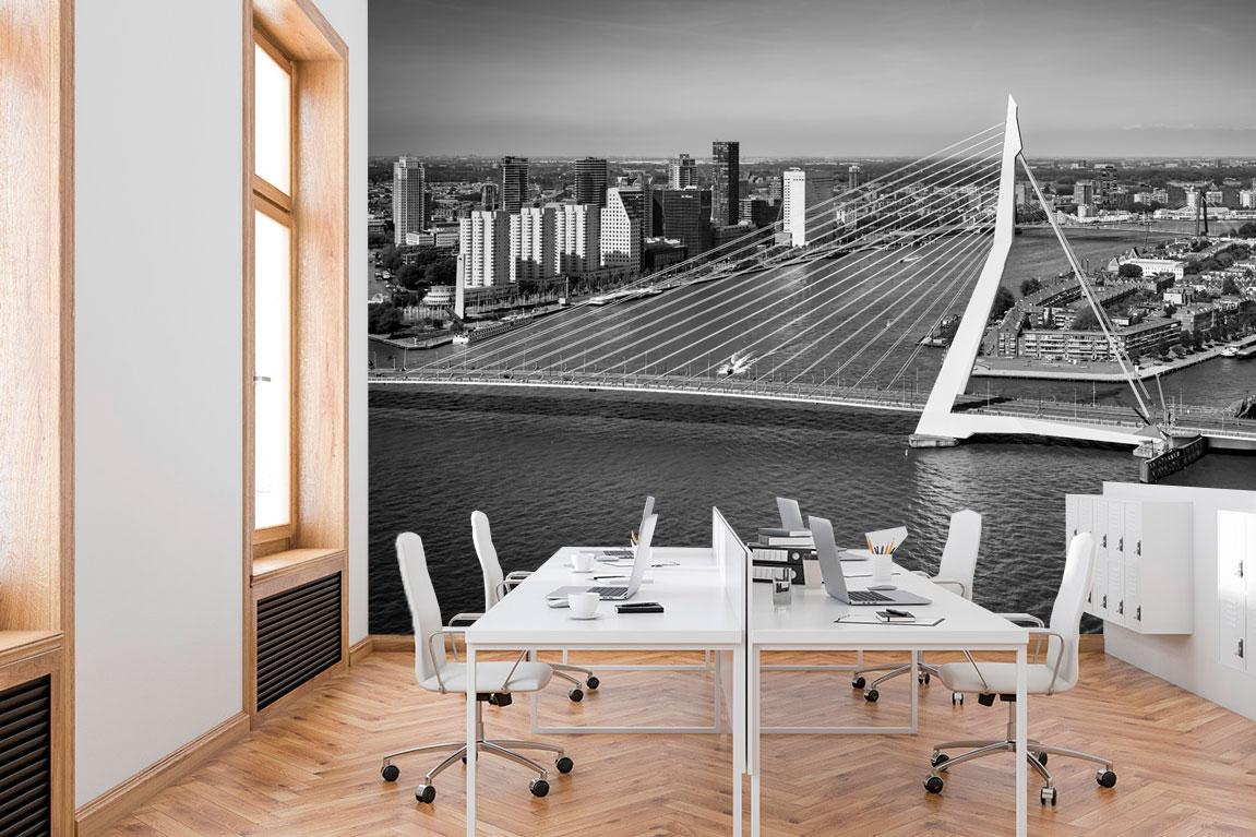 Fotobehang Erasmusbrug op kantoor