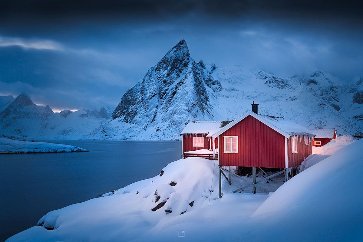 Mooiste avondfoto's van de Lofoten in Noorwegen