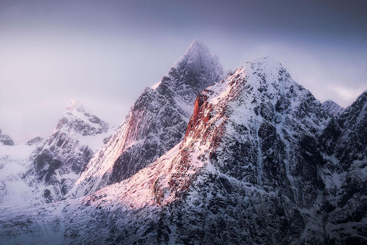 Mooiste fotografielocaties Noorwegen (bergpieken Lofoten)