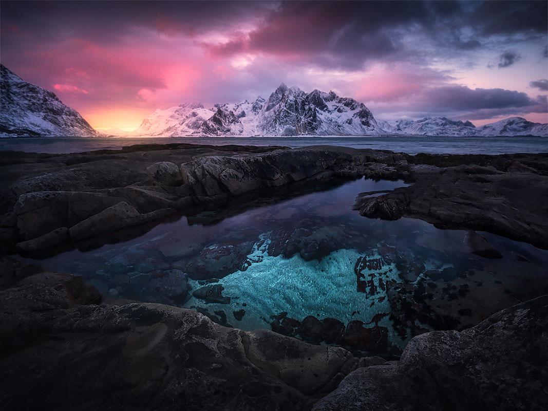 Mooiste landschapsfoto's Lofoten in Noorwegen