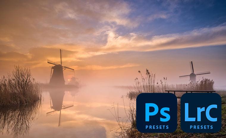 Landschap presets voor photoshop en lightroom