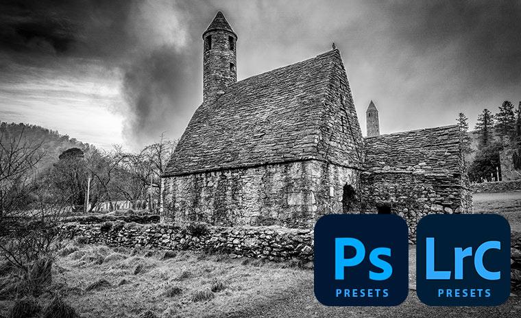 Zwart-wit presets voor Photoshop en Lightroom