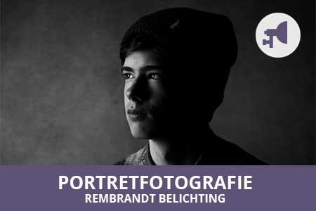 workshop portretfotografie met rembrandt belichting leren