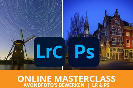 Online masterclass avondfoto's bewerken in Lightroom en Photoshop