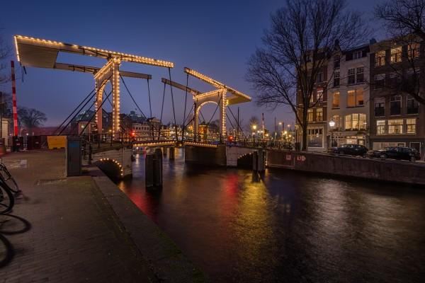 02. Avondfoto Amsterdam Brug Nieuwe Herengracht