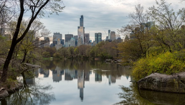 024. Central Park with Manhattan Reflection