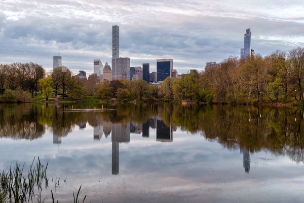 019. Early Morning in Central Park with Reflection in The Lake