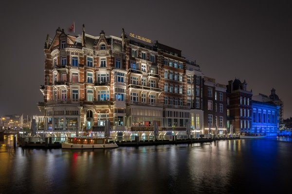05. Nachtfoto Amsterdam Hotel l'Europe