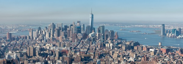 020. Panorama Lower Manhattan from Empire Statue Building, New York