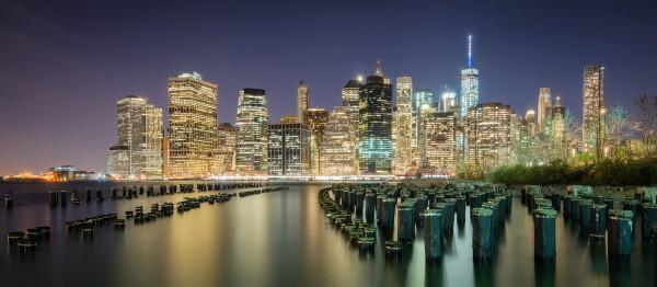 045. Skyline Manhattan by Night, New York