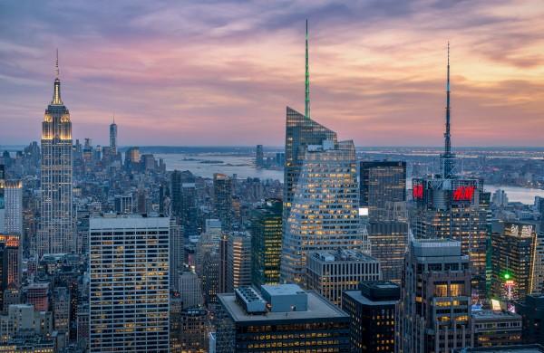 040. Sunset Manhattan from Empire State Building, New York